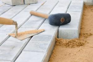 Pflaster Steine bei Verlegung durch Nikolai Kratz Tiefbau Siegen